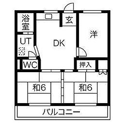 CORPO SHINYASHIKI[3階]の間取り