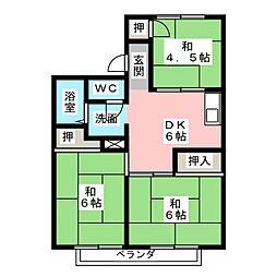 ホワイトフォーラムI[2階]の間取り