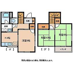 [タウンハウス] 長野県飯田市上郷黒田 の賃貸【/】の間取り