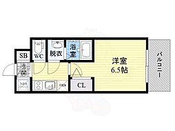 Osaka Metro長堀鶴見緑地線 京橋駅 徒歩11分の賃貸マンション 8階1Kの間取り