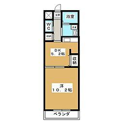 プレアデス桃山[3階]の間取り