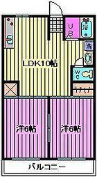 松沢マンション[405号室]の間取り
