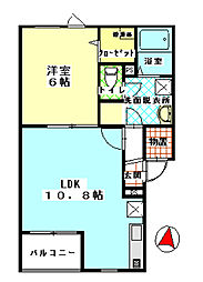 パルファンI[2階]の間取り