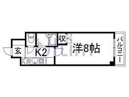 京都府京都市伏見区桃山町本多上野の賃貸マンションの間取り