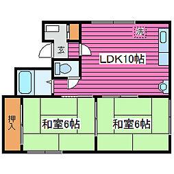 北海道札幌市東区北三十八条東5丁目の賃貸アパートの間取り