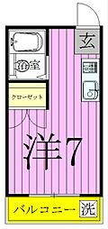 フォーラム八柱[305号室]の間取り