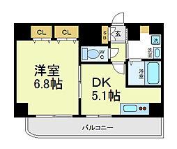 まねきやマンション[7階]の間取り