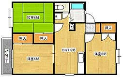 レジデンス高松[2階]の間取り