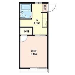 大菊アパート[1階]の間取り