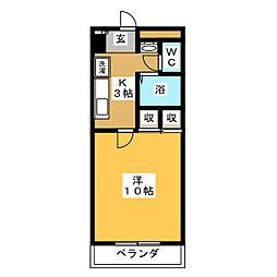 パルトネール東古松[4階]の間取り