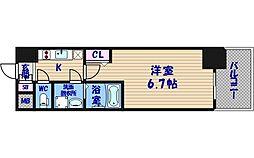 エスリード阿波座レジデンス[3階]の間取り