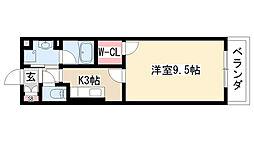 愛知県名古屋市緑区篠ノ風1丁目の賃貸マンションの間取り
