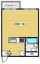 川崎ビル[402号室]の間取り