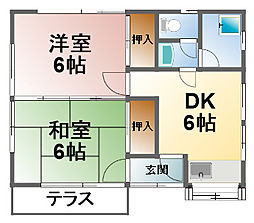 [一戸建] 千葉県東金市東新宿 の賃貸【/】の間取り