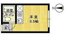 ハートイン宿院[4階]の間取り