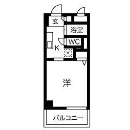 アーバンポイント川名本町[203号室]の間取り