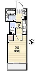 JR京浜東北・根岸線 大宮駅 徒歩8分の賃貸アパート 2階1Kの間取り
