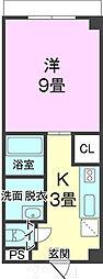 沖縄都市モノレール 浦添前田駅 4.5kmの賃貸マンション 4階1Kの間取り