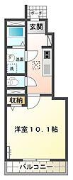 (仮)石岡市東光台スターテラス新築[105号室号室]の間取り