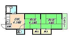 タウンハウスアミィ[1階]の間取り