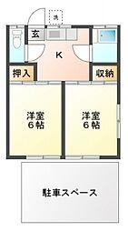 第2旭荘[1階]の間取り