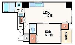 安藤ビルディング[6階]の間取り