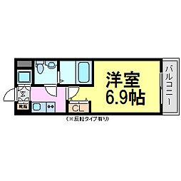 レジュールアッシュ尼崎駅前[5階]の間取り