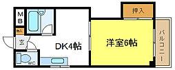 ロイヤル正覚寺[3階]の間取り