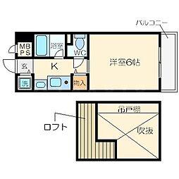 エステムコート大阪城OBPリバーフロント[6階]の間取り