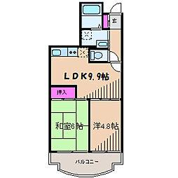 神奈川県横浜市港北区箕輪町2丁目の賃貸マンションの間取り