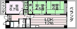 パレグリシーヌ 高井田 高井田5分[5階]の間取り