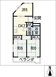 上条マンション[2階]の間取り