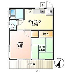 第一小沢荘[1F西号室]の外観