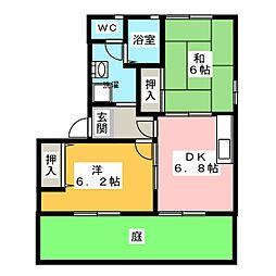 シャーメゾン姫島一番館[1階]の間取り