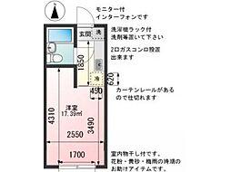 コート吉野[2階]の間取り