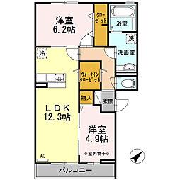 東京都江戸川区西葛西3丁目の賃貸アパートの間取り