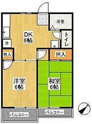 コーポジュネスB棟(コーポジュネスBトウ)[1階]の間取り