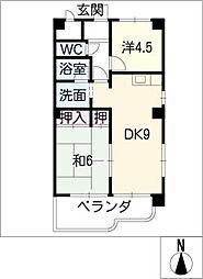 サンフィールドK[2階]の間取り
