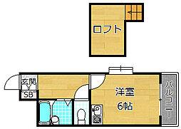 メゾンMIYAKO[2階]の間取り