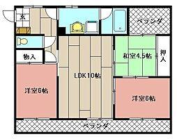 ハイコーポ依田2号館[301号室]の間取り