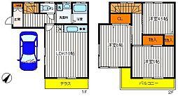 [一戸建] 東京都昭島市中神町 の賃貸【/】の間取り