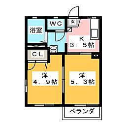 ボナールゴトウ弐番館 C[2階]の間取り