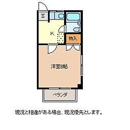 コーポ千曲川[2階]の間取り
