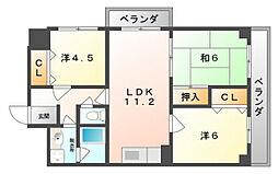 エコーハイツ[5階]の間取り