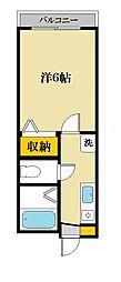 1stアベニュー大澤[3階]の間取り