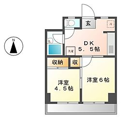 エムズハウス栄[8階]の間取り