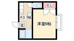 名東レジデンスII[2C号室]の間取り
