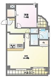 サンクリエ[3階]の間取り