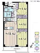 3LDK・専有面積67.67平米・バルコニー面積7.69平米