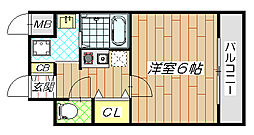 GOOD LIFE 岩田[7階]の間取り